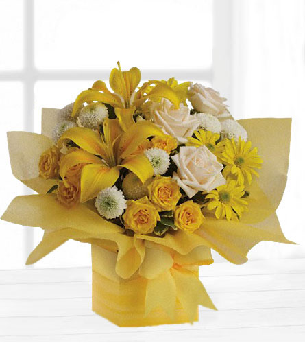 Natures wonders florist yellow flowers telefloras sunshine surprise mightylinksfo