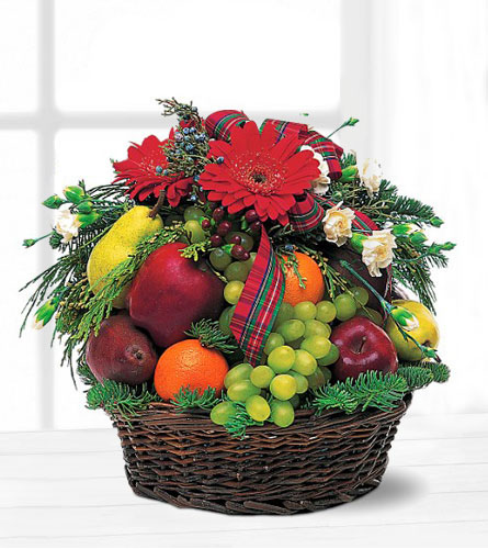 Teleflora's Fruit and Flowers Basket
