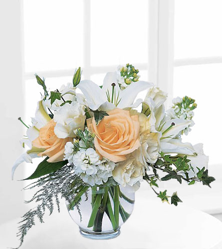 Teleflora's White Roses & Lilies
